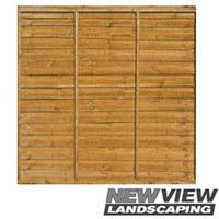Waneyedge Fence Panel - Larch Lap Panels