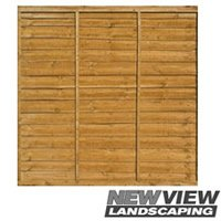 Waneyedge Fence Panel - Larch Lap Panels